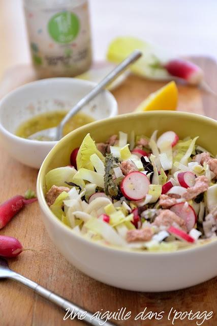crunchy salad with sea falvors/ smoked cod faith