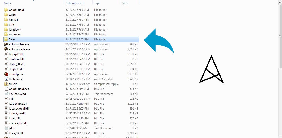 Buka Folder Save didalam Folder Lost Saga