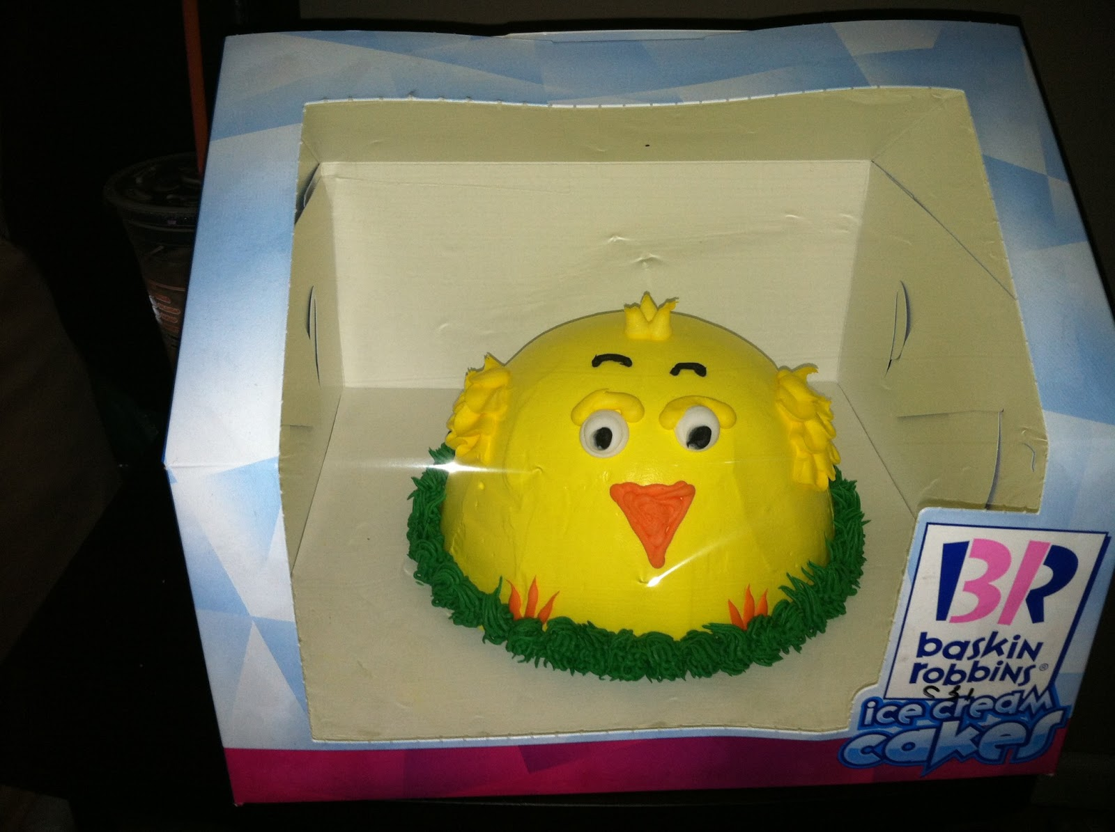 Review Baskin Robbins Spring Chick Ice Cream Cake ~ QueensNYCMom