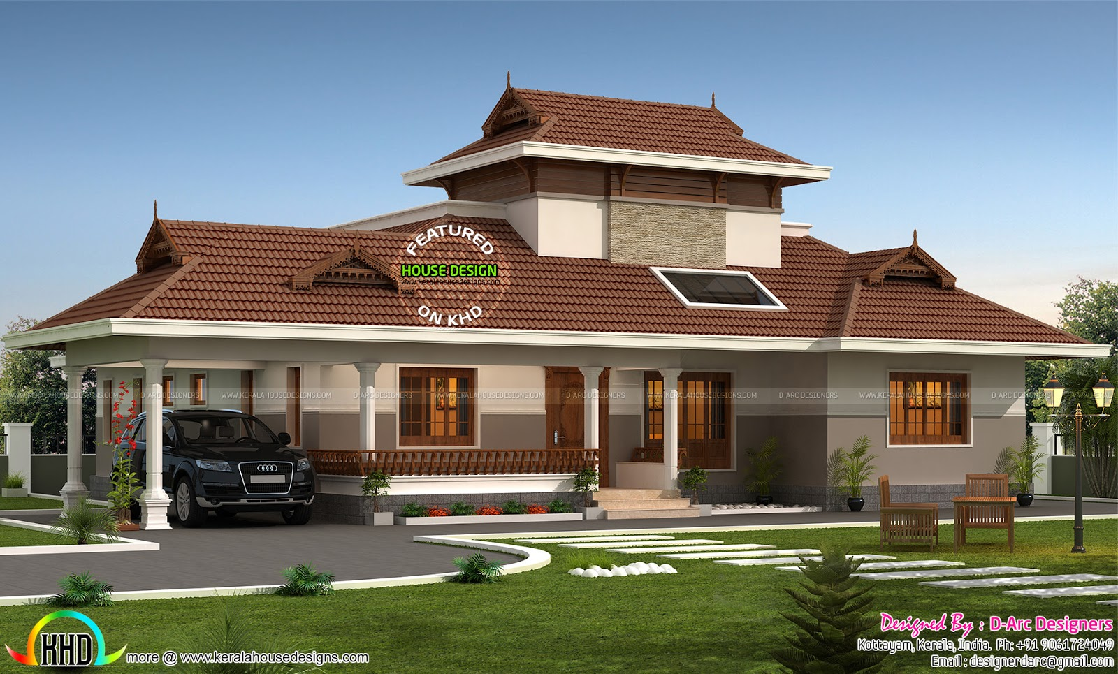 Floor plan of 2200 sq ft traditional home kerala home for Traditional home designs