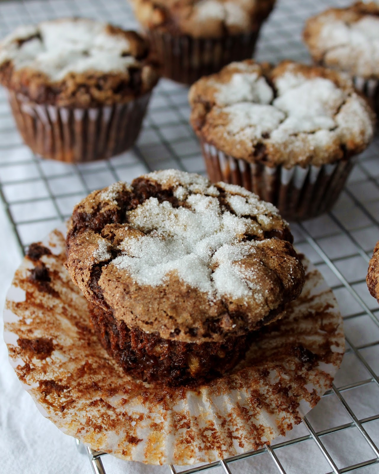 gluten free chocolate banana muffins 1 flax egg 1 tablespoon flaxseed ...