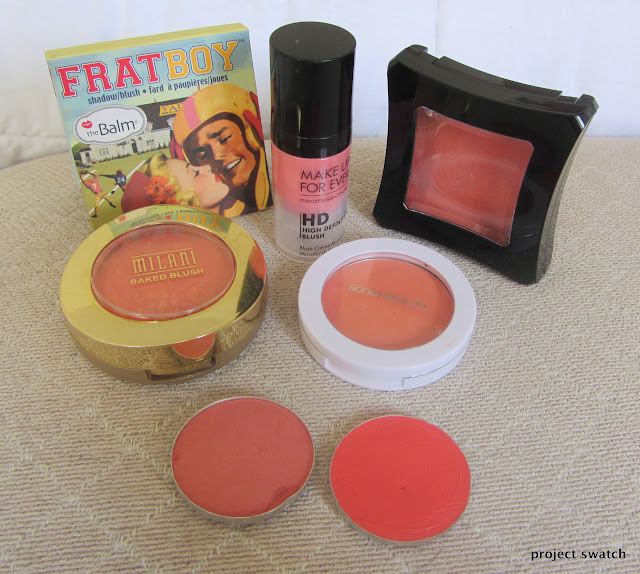 Coral Blush Comparison, Swatches, Photos