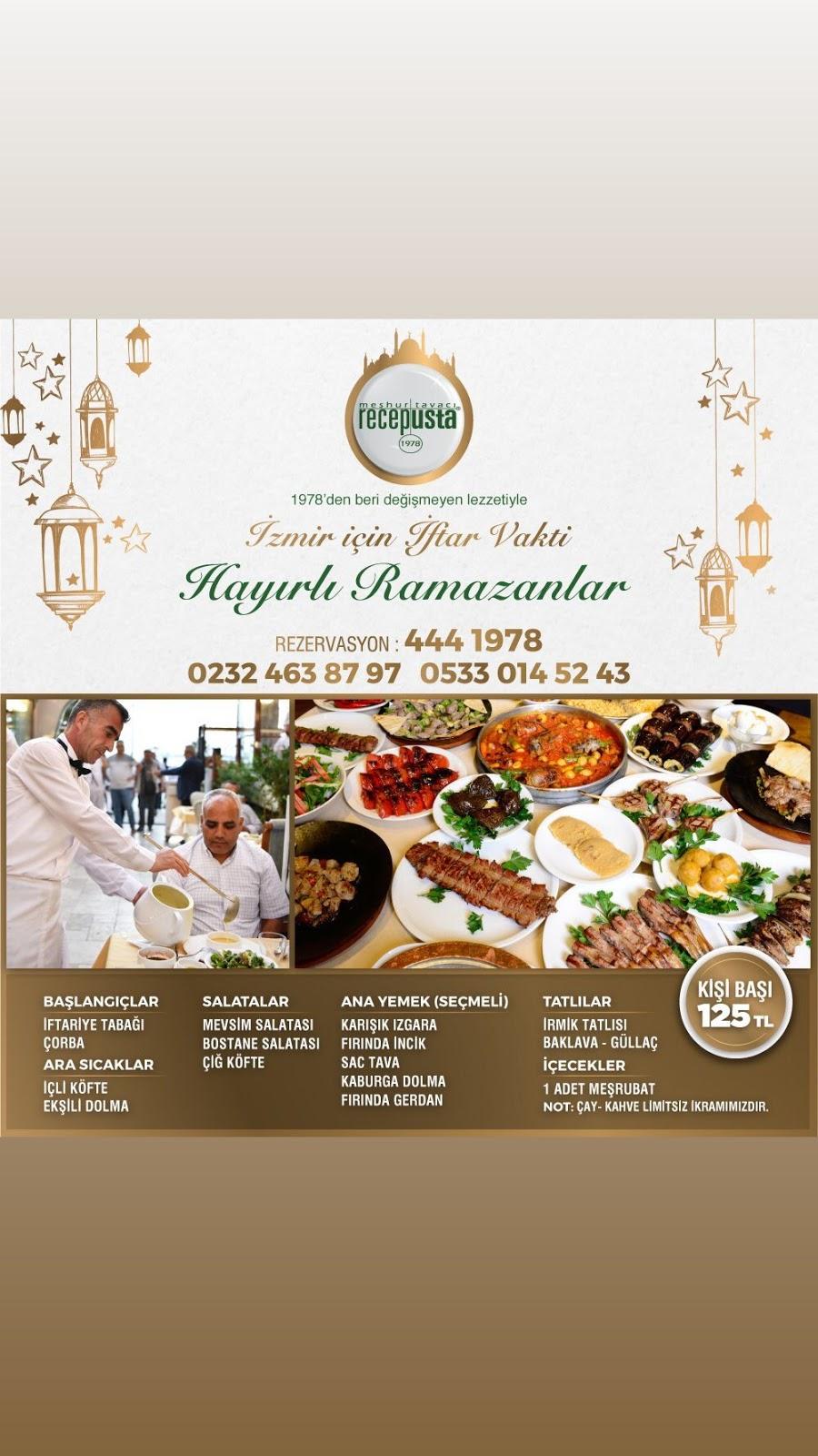 tavacı recep alsancak tavacı recep usta alsancak iftar mekanları alsancak iftar menüsü alsancak iftar yerleri