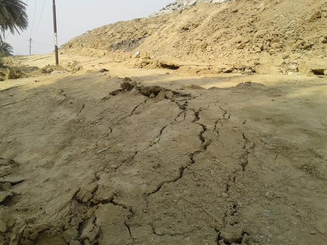 কেন্দা খোলামুখ খনিতে ফাটল:আতঙ্কে এলাকাবাসী