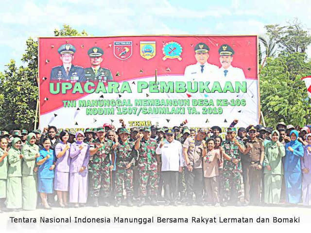 Tentara Nasional Indonesia Manunggal Bersama Rakyat Lermatan dan Bomaki