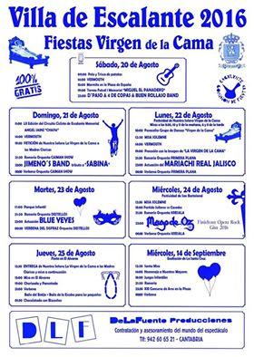 FIESTAS VIRGEN DE LA CAMA 2016 EN ESCALANTE
