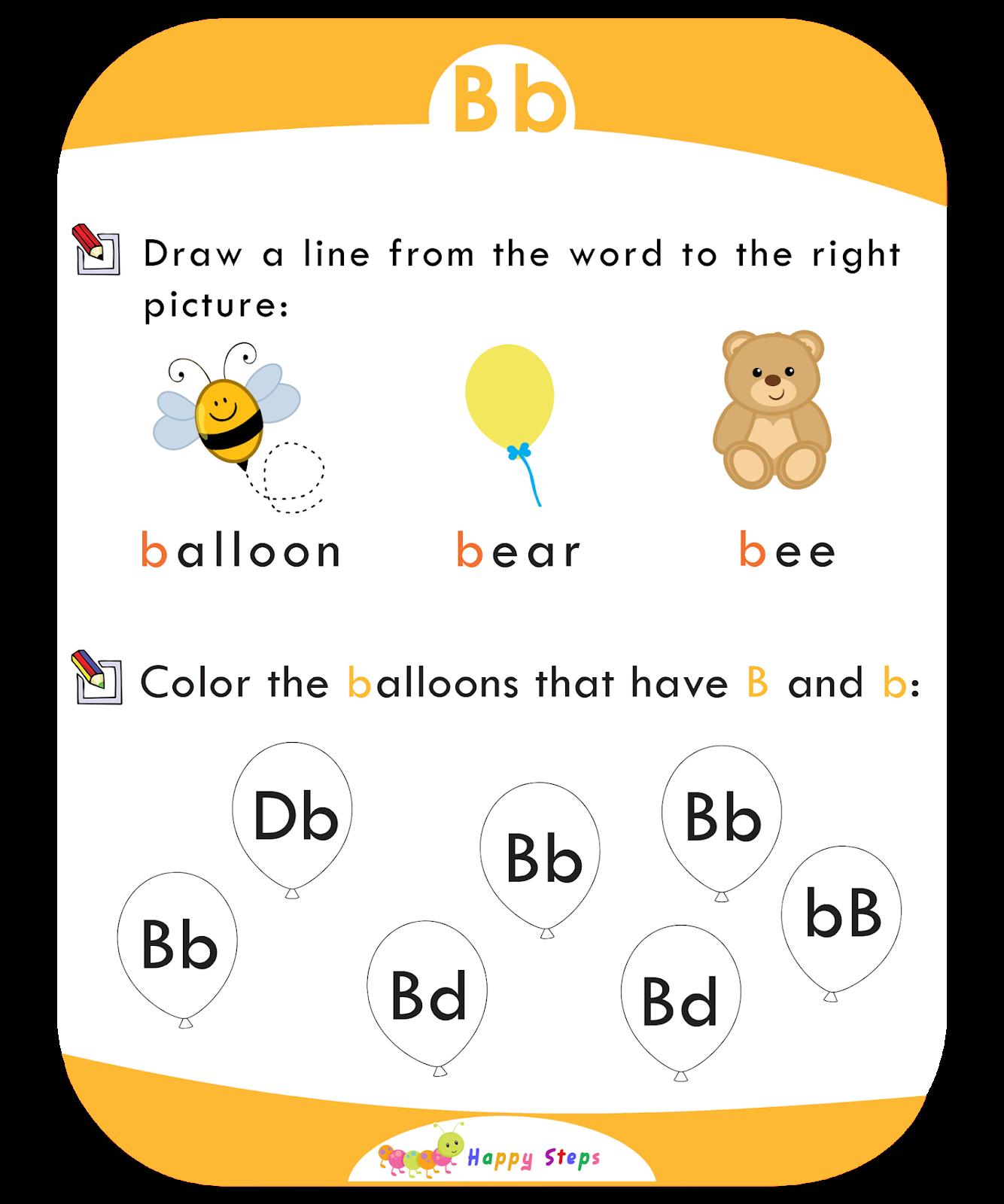 Letter B Worksheet Number 1