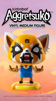 Kidrobot Aggretsuko Medium Vinyl Figures