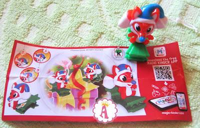 Подвесная елочная игрушка лиса Kinder Surprise toys