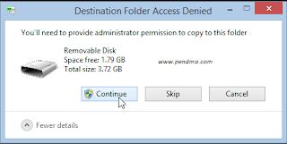 Cara  Mengatasi Provide Administrator Saat Menyimpan File