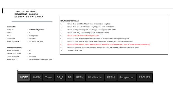 Aplikasi Penilaian Kurikulum 2013 TK (Taman Kanak-Kanak)