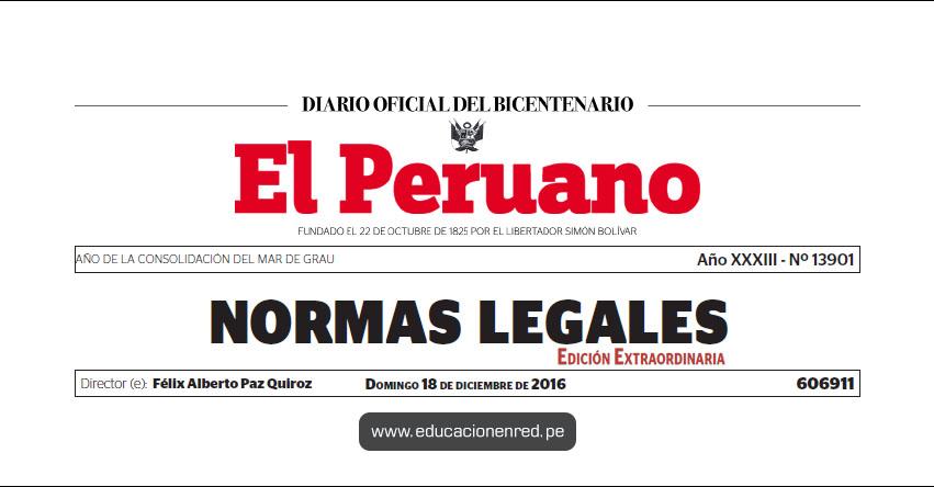 R. S. Nº 316-2016-PCM - Nombran Ministra de Estado en el Despacho de Educación (Marilú Doris Martens Cortés) MINEDU - www.minedu.gob.pe