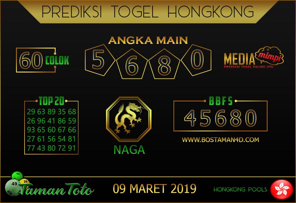 Prediksi Togel HONGKONG TAMAN TOTO 09 MARET 2019