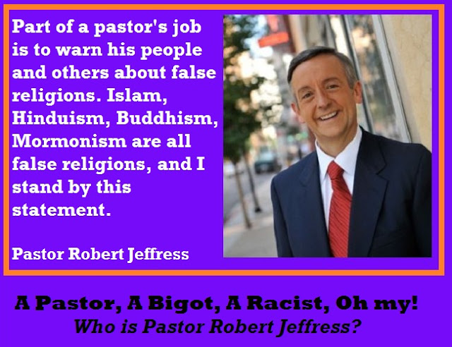 Controversial Baptist Pastor Robert Jeffress from Dallas, Texas.