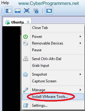 Install VMware Tools
