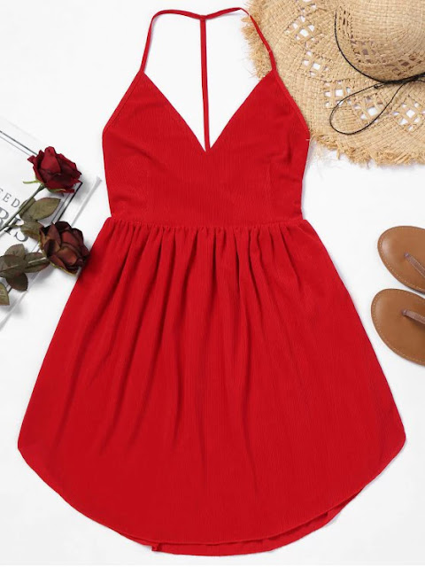 Backless Cami Mini Dress