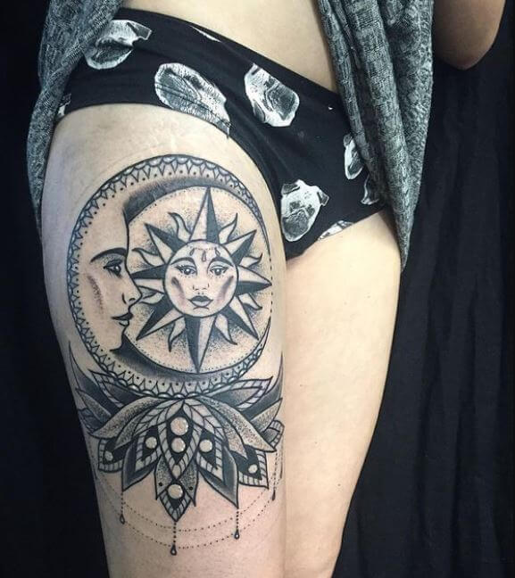 50 sun and moon tattoos ideas for couples 2018
