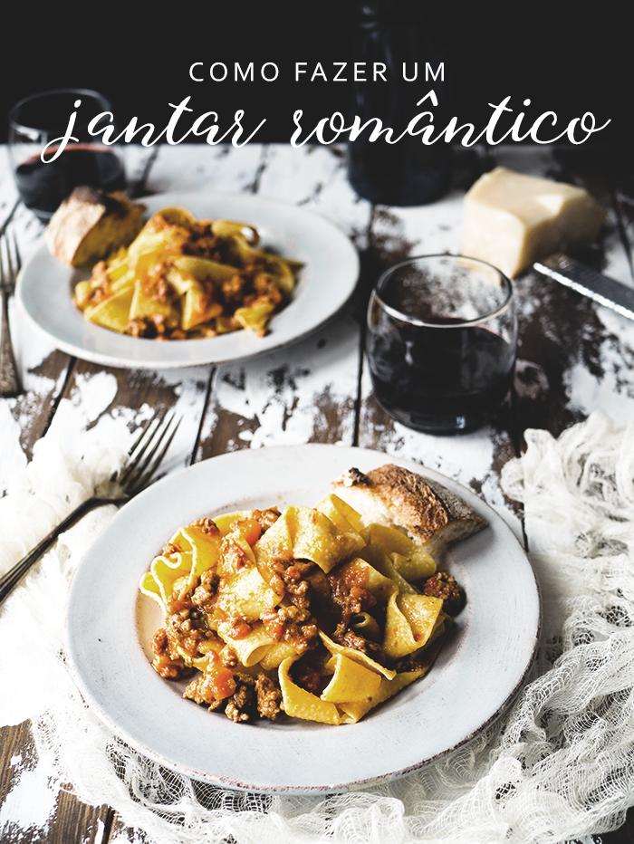 como fazer um jantar romântico