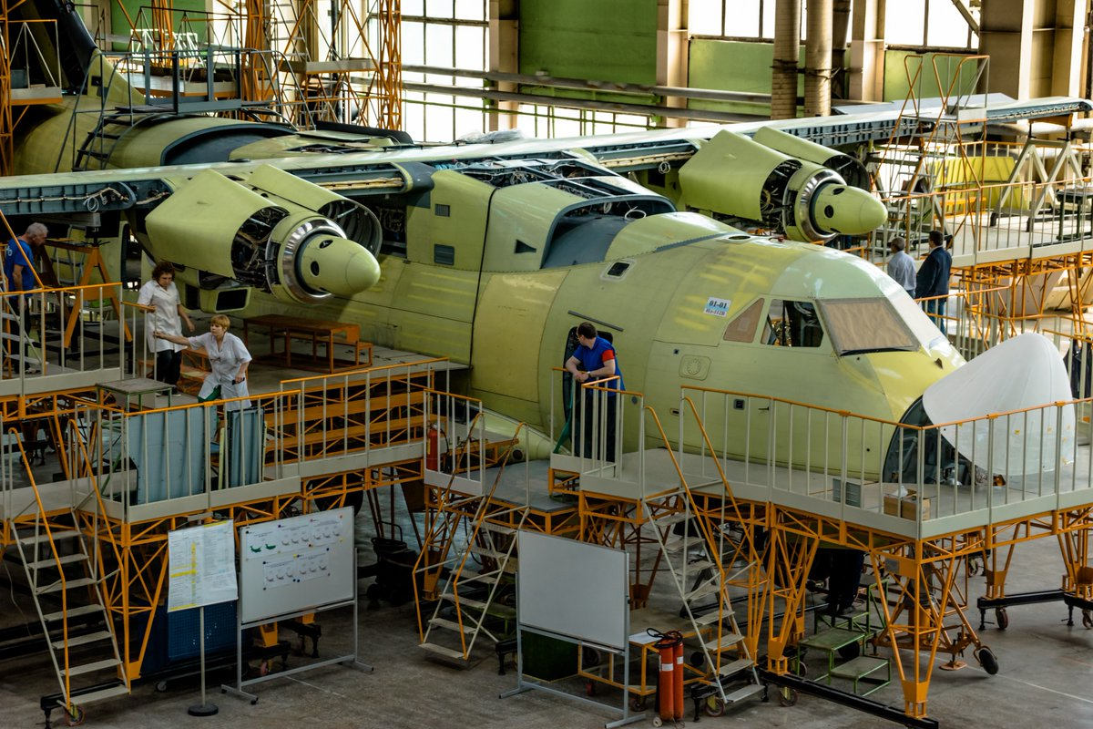 The first prototype of the Il-112V aircraft under construction has received engines 45