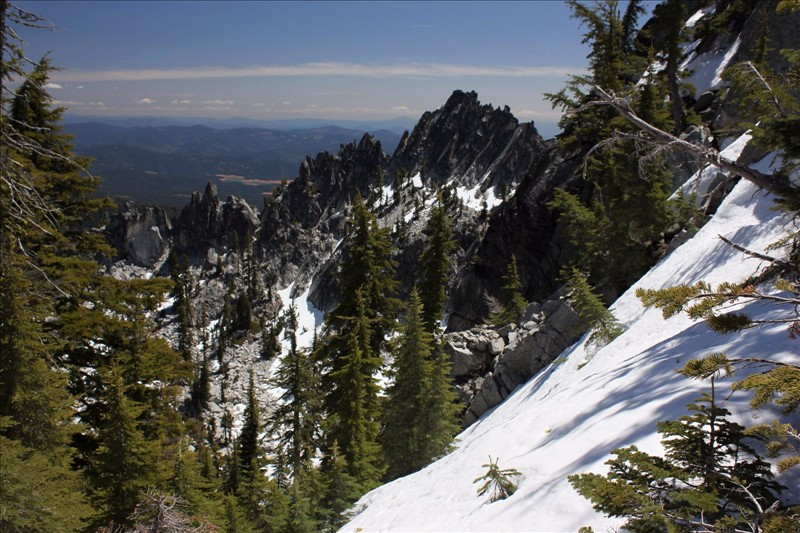 See the chains of mountains Trinity Alps Wilderness in California