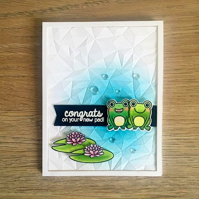 Sunny Studio Stamps: Froggy Friends Congrats On Your New Pad Frog Card by gems.and.ashes