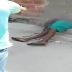 Brasileiro sendo executado