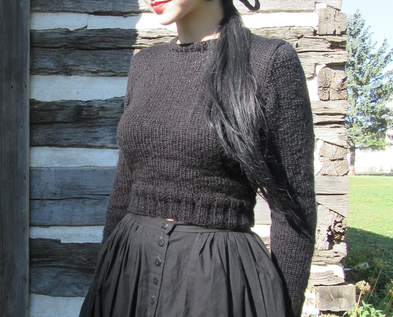 6986a95c7 Vegan Metal Vamp  Lumberjackie Cropped Sweater Knitting Pattern
