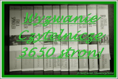 Wyzwanie czytelnicze 3650 stron w Kreatywnej Jackiewiczówce