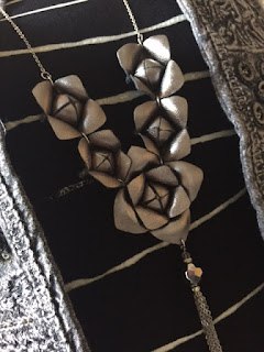 Accessorize floral pewter necklace