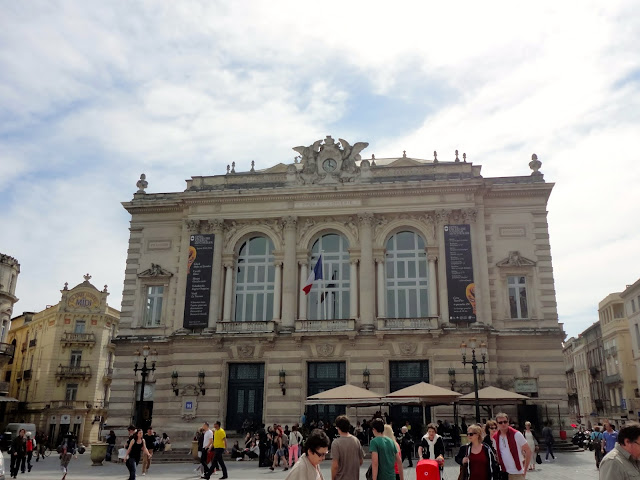 Theatre Place de la Comedie, Montpellier, France