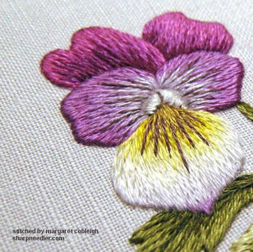 The Sharp Needler Sweet Violas In Thread Painting