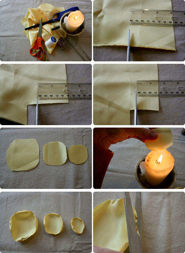 how to make flower with cloth at home