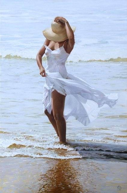 Lluís Ribas 1949 | Spanish Luminist Figurative painter
