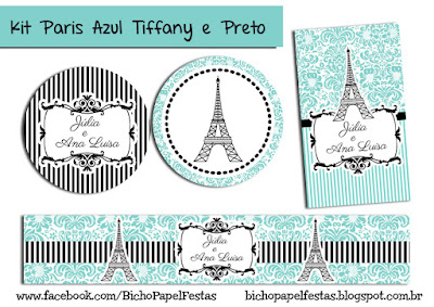 Kit Paris preto tiffany