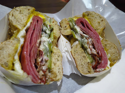 Two Men Bagel House, cow king