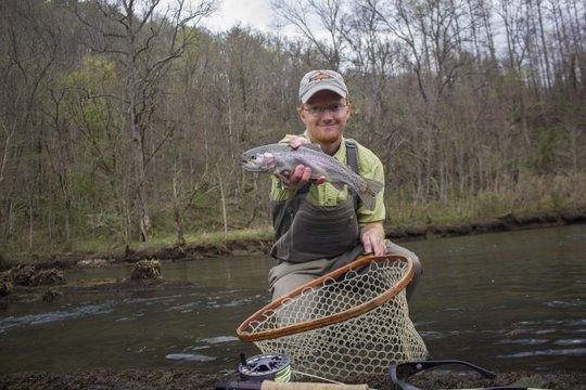 Nice rainbow trout from the Hiwassee