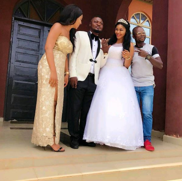 Prince Nwafor Wedding Pictures Osita Iheme Honoured As BestmanRegina Daniels As Bride