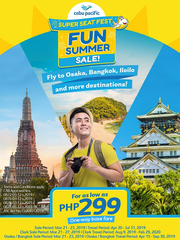 LATEST CEBU PACIFIC PROMO FARE MARCH 2019, SEAT SALE & PISO FARE TICKETS
