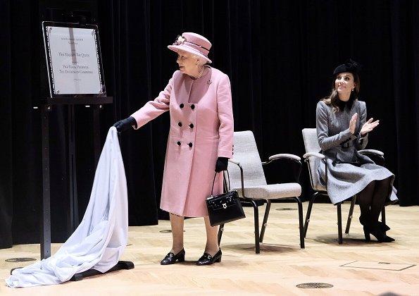 Kate Middleton accessorised Kiki McDonough morganite and diamond cushion drop earrings