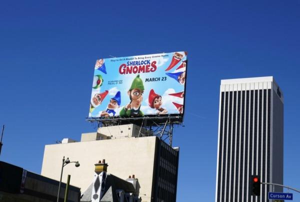 Sherlock Gnomes billboard