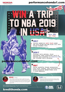 program  Honda win a trip to NBA 2019 USA