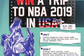Beli Mobil Honda Baru Berkesempatan Nonton NBA di Amerika Serikat Gratis
