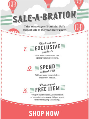 Stampin' Up! UK Sale-a-Bration Catalogue - Available here now
