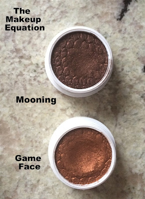 Colourpop cosmetics mooning eyeshadow, colorupop game face eyeshadow
