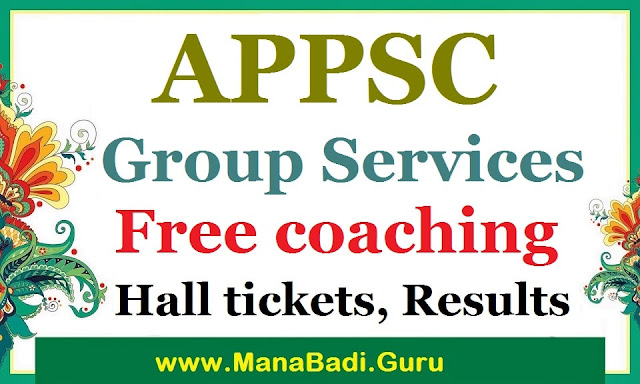 APPSC Group exams, Free coaching to SC students, Hall tickets, Results