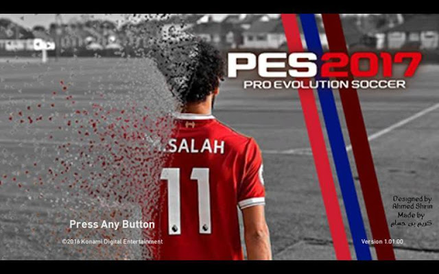 Mohamed Salah Start Screen PES 2017