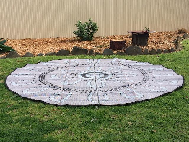 Aboriginal Campfire mat