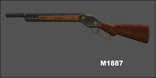 m1887 shotgun point blank indonesia