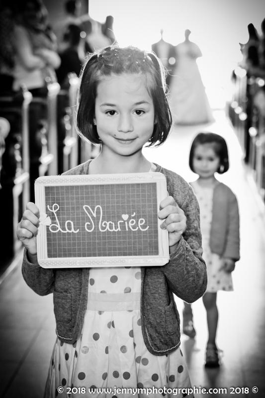 attention la mariée arrive message des enfants