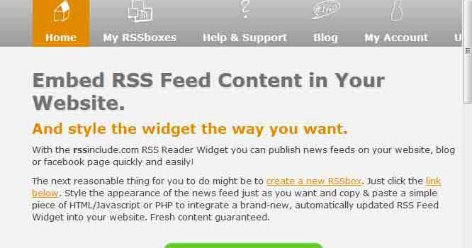 Javascript Rss Feed Widget